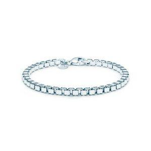 Tiffany & Co Sterling Venetian box link bracelet